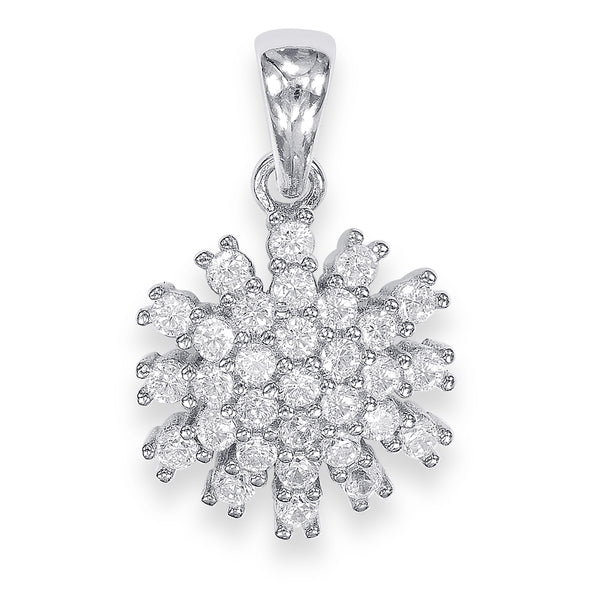 Taraash Sterling Silver Fascinating CZ Studded Pendant For Women CBPD060I-07