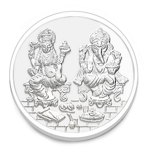 Taraash 999 Silver 5gm Lakshmiji and Ganeshji Coin COIN-LXGN 5G