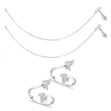 Taraash Sterling Silver Combo Of Anklet & Toe Ring For Women COMBO ANTR 65