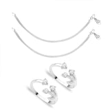 Taraash Sterling Silver Combo of Anklet & Toe Ring For Women COMBO ANTR 96
