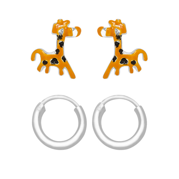 Taraash 925 Sterling Silver Combo Earrings For Women & Kids COMBO ER 27
