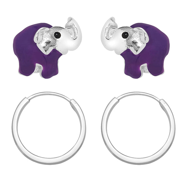 Taraash 925 Sterling Silver Combo Earrings For Women & Kids COMBO ER 31