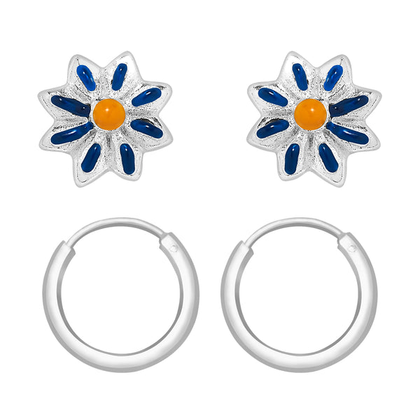 Taraash 925 Sterling Silver Combo Earrings For Women & Kids COMBO ER 33