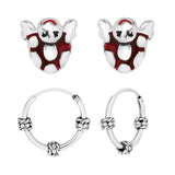 Taraash 925 Sterling Silver Combo Earrings For Women & Kids COMBO ER 36
