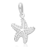 Taraash Sterling Silver Lovely Star Pendant With Chain For Women COMBO PDCH 115