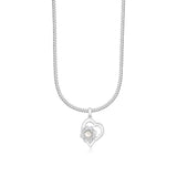 Taraash Sterling Silver Heart Pendant With Chain For Girls/Womens COMBO PDCH 153
