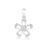Taraash 925 Sterling Silver Floral Shape Combo Pendant With Chain For Women COMBO PDCH 160