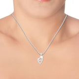 Taraash 925 Sterling Silver Dolphin Shape Combo Pendant With Chain For Girls COMBO PDCH 162
