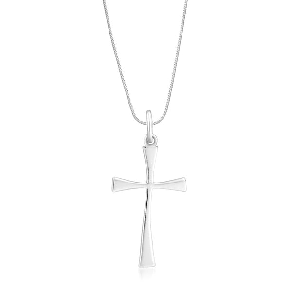 Taraash Sterling Silver Cross Pendant With Chain For Unisex COMBO PDCH 66