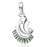 Taraash Sterling Silver Ganesha Pendant With Chain For Women COMBO PDCH 78