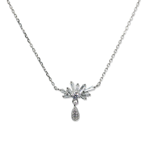Taraash 925 Designer Cz Pendant With Chain For Women