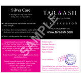 Taraash 925 Sterling Silver Abstract Design Pendant Set for women PE1273R