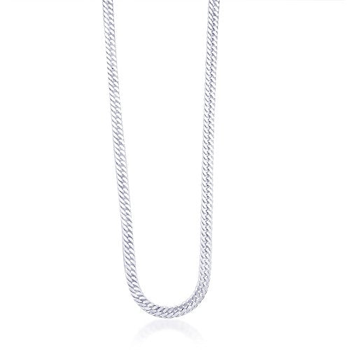Taraash Sterling Silver Curb Link Chain For Men