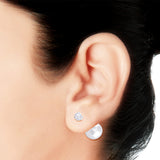 Taraash 925 Sterling Silver Double ball closure Earrings For Women ER2521S