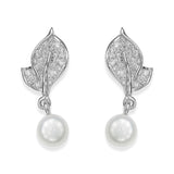Taraash Sterling Silver Pearl Drop Earring For Women ER2969R