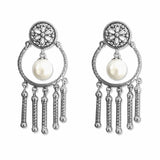 Taraash 925 Sterling Floral Silver Jhumki For Women