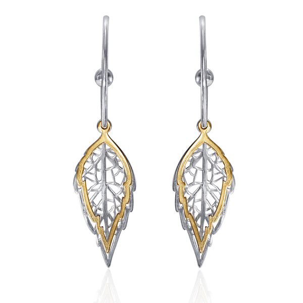 Taraash 925 Sterling Silver Hoop Style Gold Plated Earrings For Women ERM001