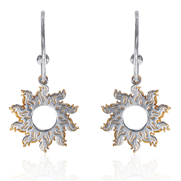 Taraash 925 Sterling Silver Hoop Style Gold Plated Earrings For Women ERM002