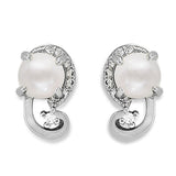 Taraash 925 Sterling Silver White Pearl CZ Earring for Women