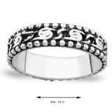 Taraash Band Style 925 Sterling Silver Finger Ring For Men FR0739A10