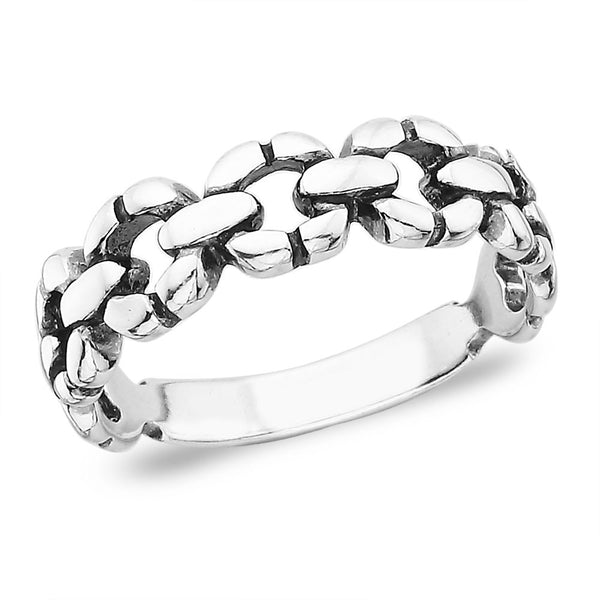 Taraash Band style 925 Sterling Silver Finger Ring FR0749A9