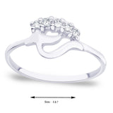 Taraash Elegant CZ Studded Sterling Silver Ring FR1205R6