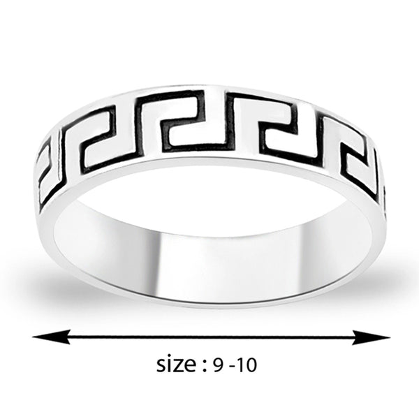 Taraash .925 Silver Band Ring For Men's FR1228A9