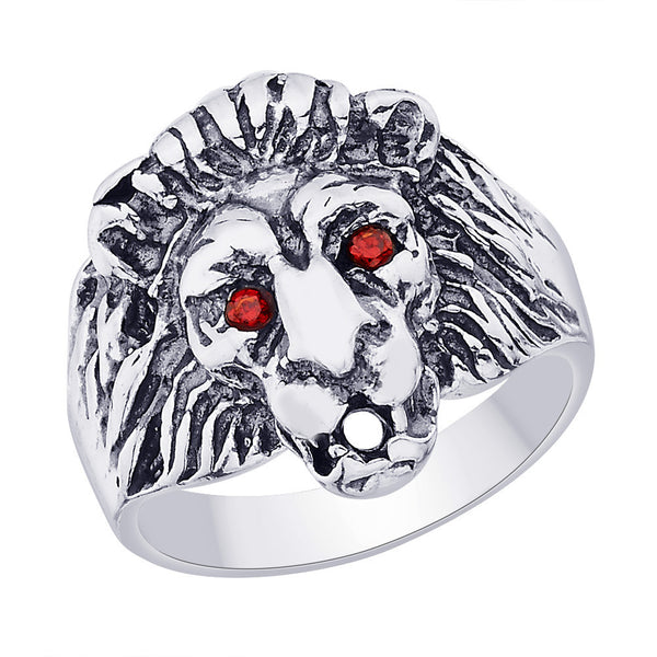 Taraash 925 Sterling Silver Lion Finger Ring For Men FR1234A9