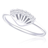 Taraash 925 Sterling Silver CZ Seven Stone Finger Ring FR1271R6