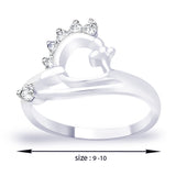 Taraash White CZ 925 Sterling Silver Finger Ring For Women FR1295R6