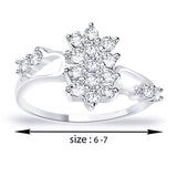 Taraash .925 Silver CZ Floral Promise Ring For Women's FR1305R6