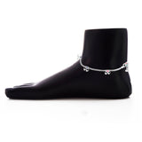 Taraash 925 Sterling Silver Plain Chain Anklet For Women GAN0006S