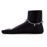 Taraash 925 Sterling Silver Heart Shape Anklet For Women GAN0007S