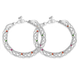 Taraash 925 Silver Traditional Indian Enamel Anklet For Women