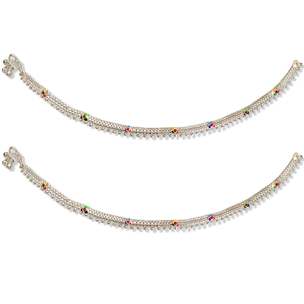 Taraash 925 Sterling Silver Chain Based Anklets For Women
