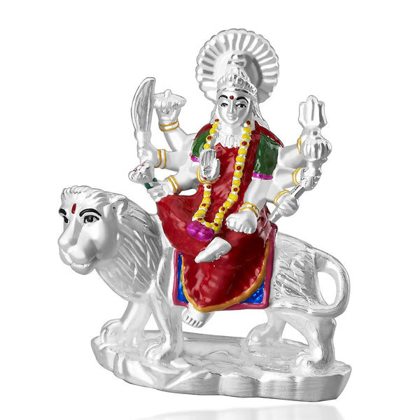 Taraash 999 Silver Durga mata devi Forming idol GI1259EN (Weight 38gm approx)