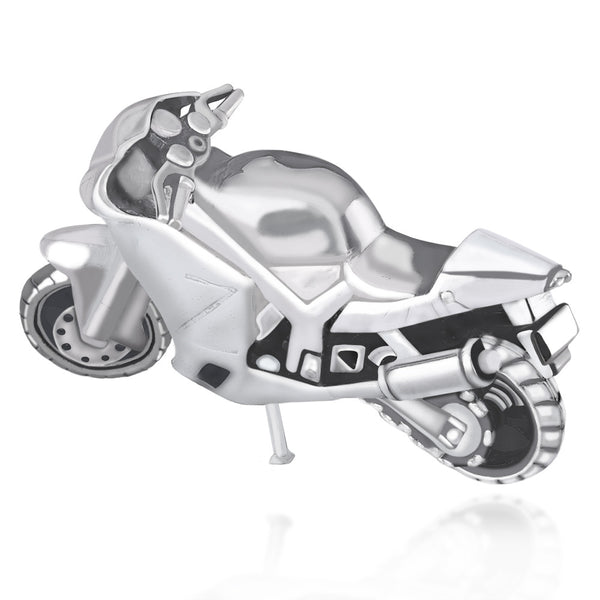 Taraash 925 Sterling Silver Racing Bike toy for Gift items or Diwali Gift GI1409A