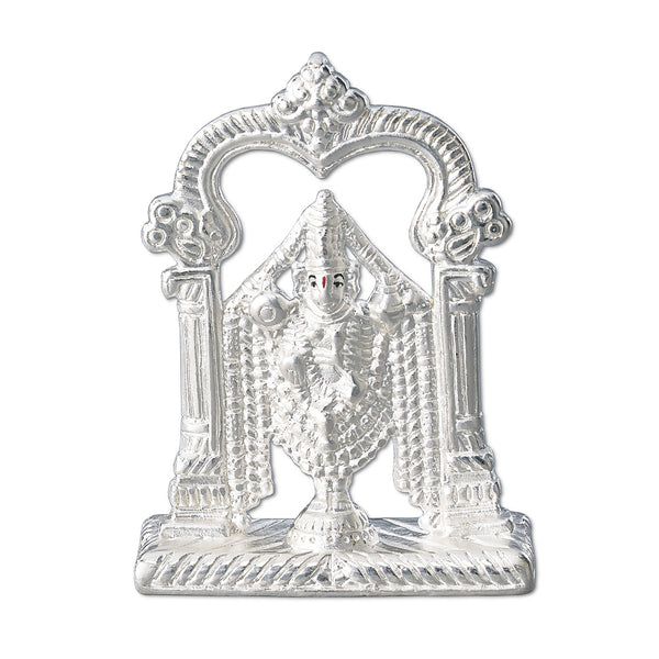 Taraash 999 Silver Electroforming Tirupati Balaji Idol For Gift GI1769F (Weight 14gm approx)