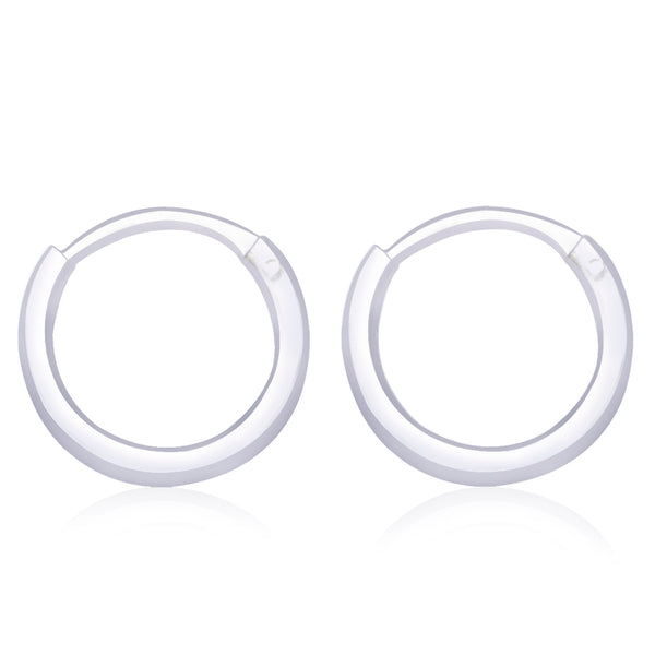 Taraash 925 Sterling Silver  Hoop Earring For Women Silver-H41010M