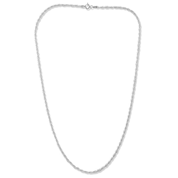 Taraash Sterling Silver Rope Design Chain For Women
