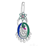 Taraash sterling silver Beautiful Peacock Design Keychain for girls KC1221S