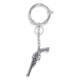 Taraash Sterling Silver Antique Revolver Keychain KC1252A