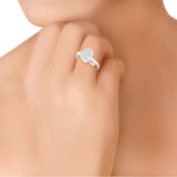 Taraash 925 Silver CZ Leaf Design Finger Ring LFR3-XD15