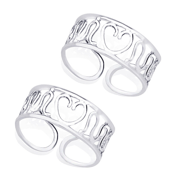 Taraash Cutwork 925 Sterling Silver Toe Ring For Women LR0637S