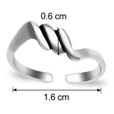 Taraash Spiral 925 Sterling Silver Toe Ring For Women LR0655A