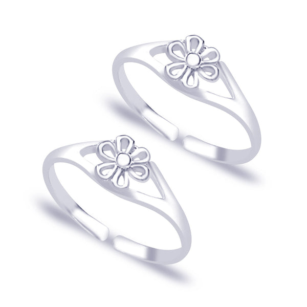 Taraash 925 Sterling Silver Beautiful Floral Daily wear Toe Ring For Women LR0662S