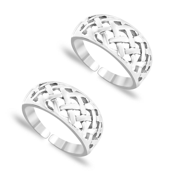 Taraash Cutwork 925 Sterling Silver Toe Ring For Women LR0713S