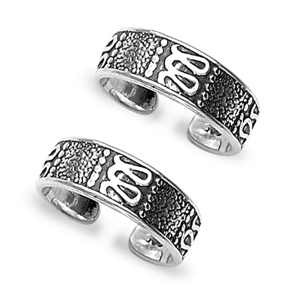 Taraash Pattern 925 Sterling Silver Toe Ring For Women LR0829A