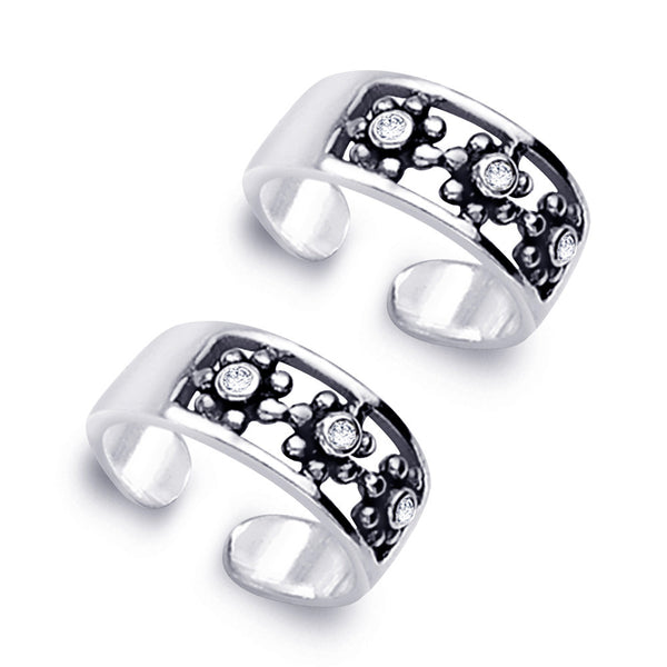 Taraash 925 Sterling Silver  Toe Ring  For Women Silver-LR0832A