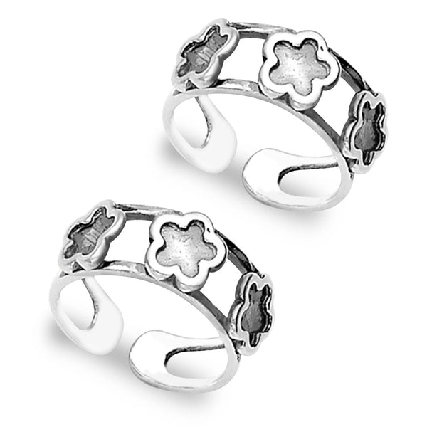 Taraash Floral 925 Sterling Silver Toe Ring For Women LR0838A